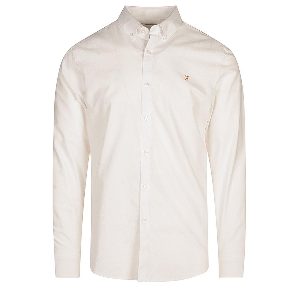 Brewer LS Shirt in White