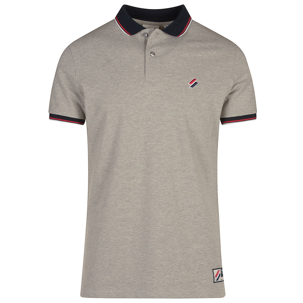 Sportstyle Twin Tipped Polo in Lt Grey