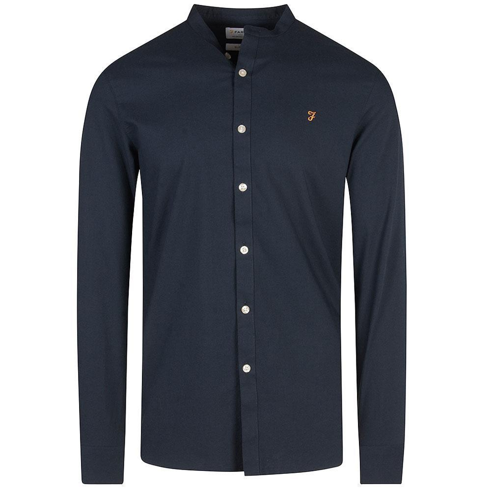 Brewer Grandfather Shirt in Navy
