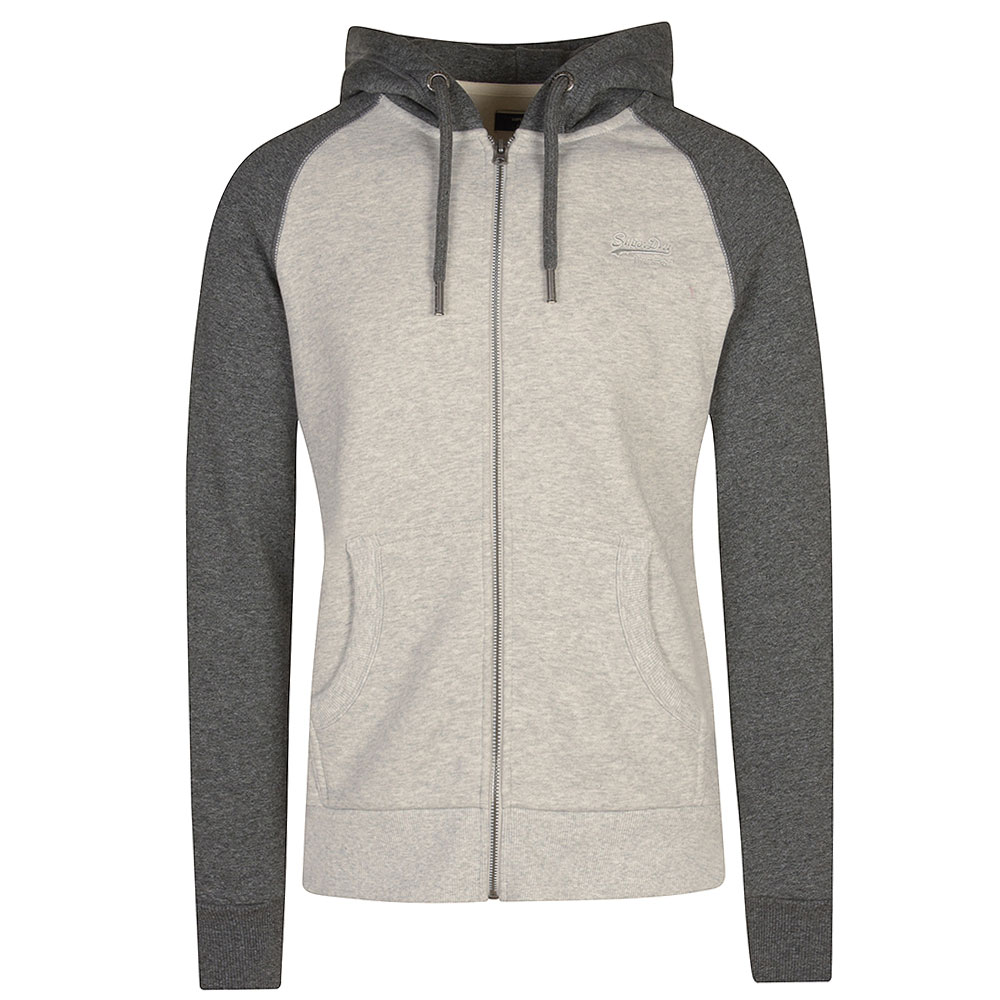 Raglan Zip Hood in Lt Grey