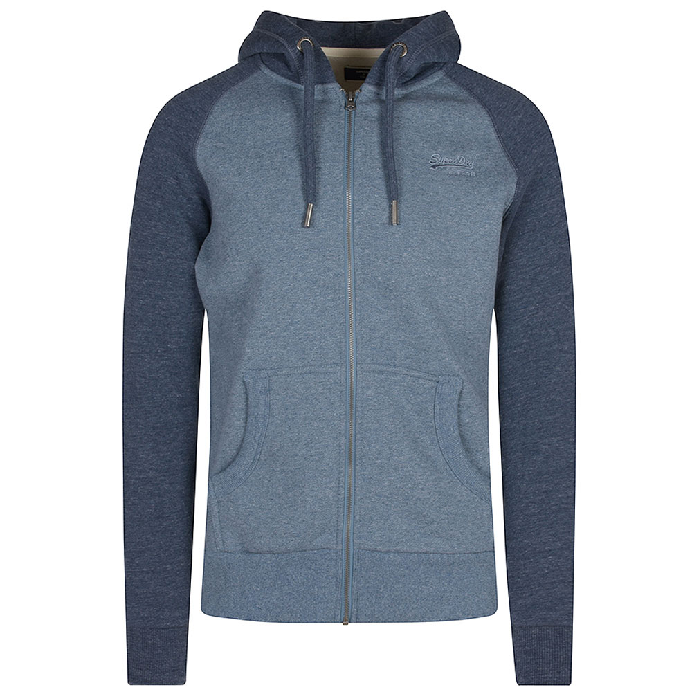 Raglan Zip Hood in Blue