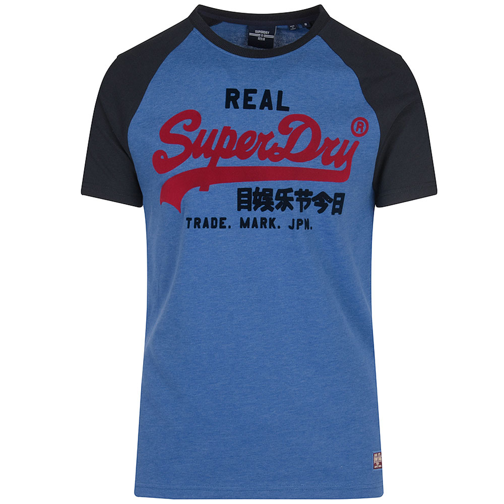Duo Raglan T-Shirt in Blue