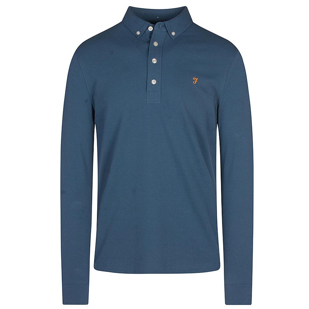 Ricky Long Sleeve Polo Shirt in Lt Blue