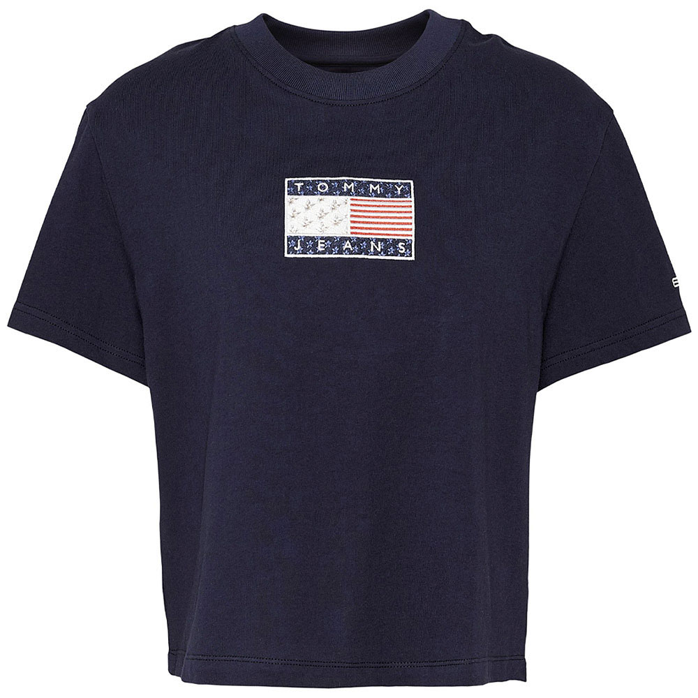 Star American Flag Tee in Navy