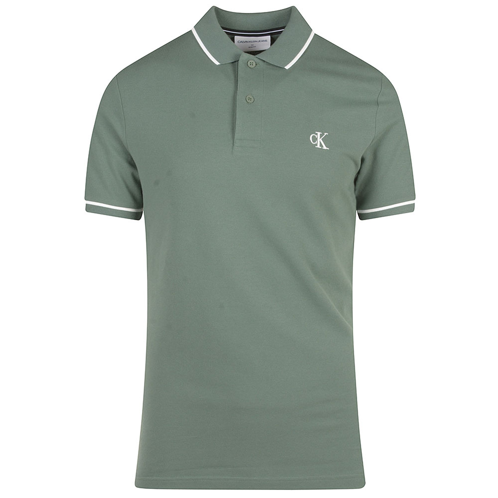 Tipping Polo Shirt in Green