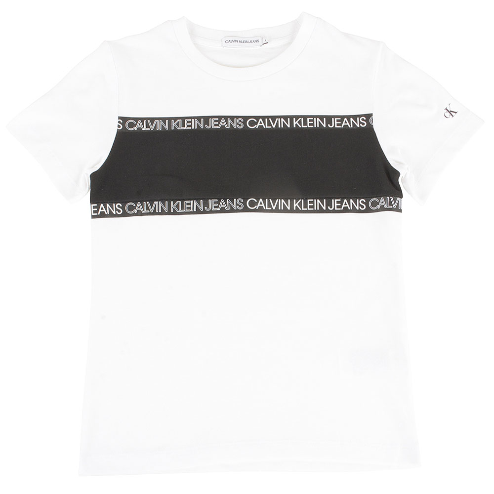 Kids Colour Block T-Shirt in White