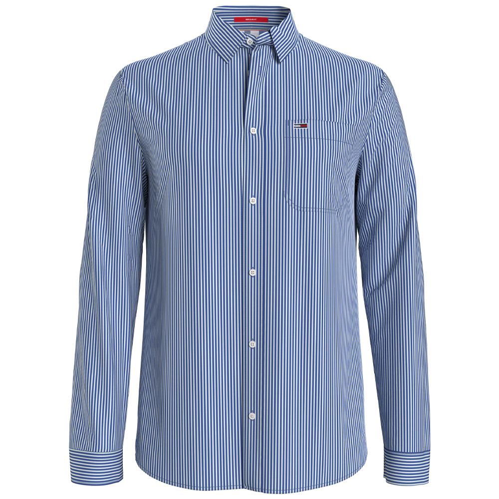 Linen Blend Shirt in Navy