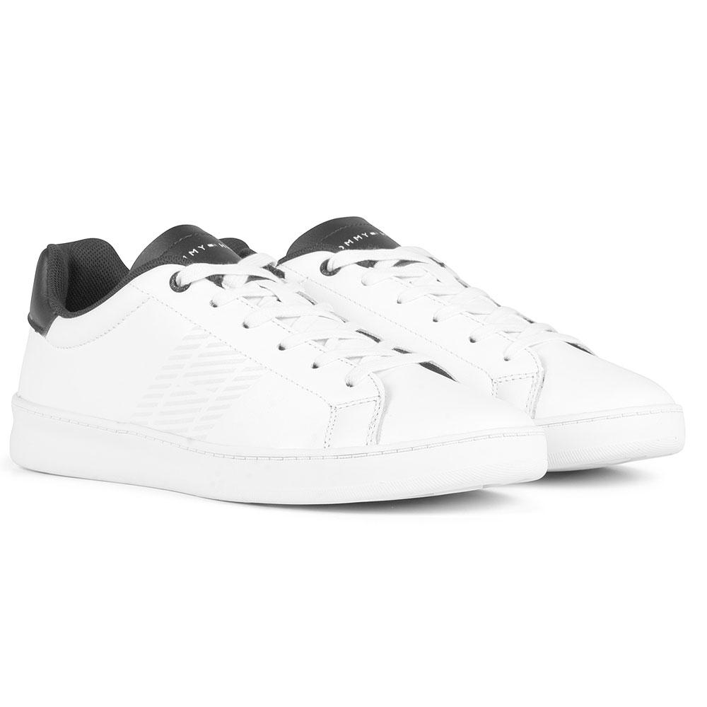 Retro Tennis Cupsole in White