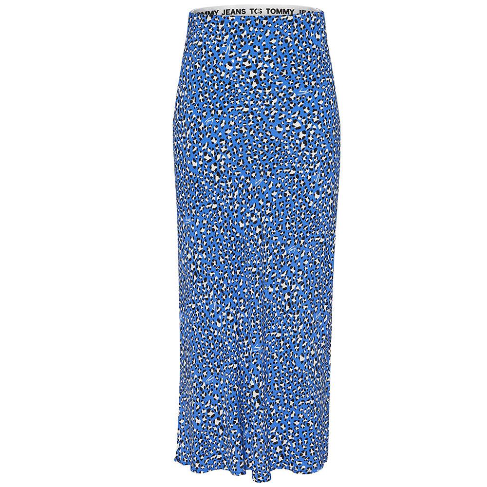Leo Print Midi Skirt in Khaki