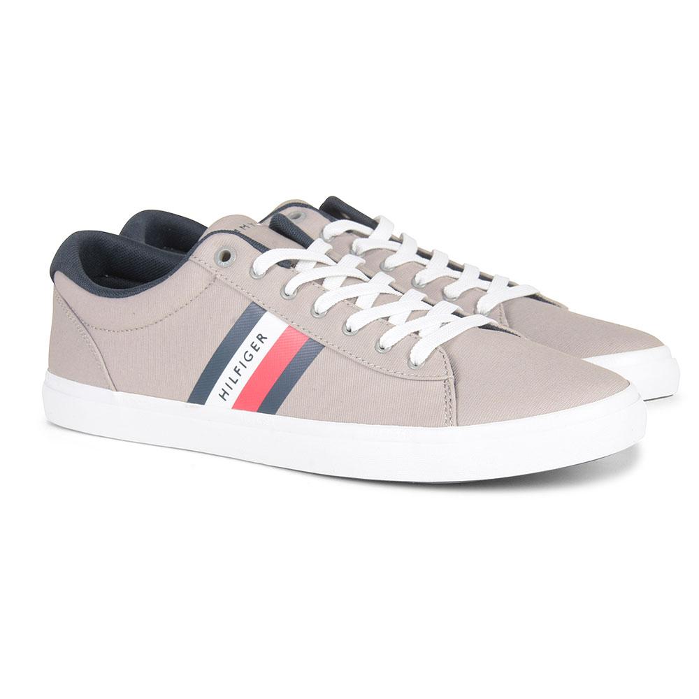 Essential Stripe Sneaker in Silver