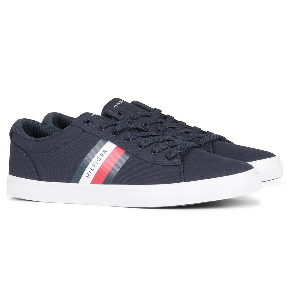 Essential Stripe Sneaker in Navy