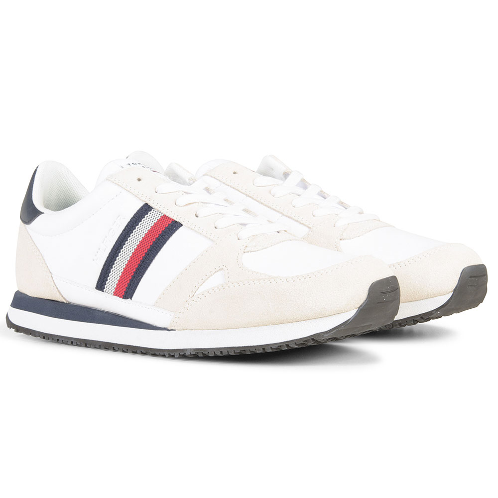 Leather Runner in White