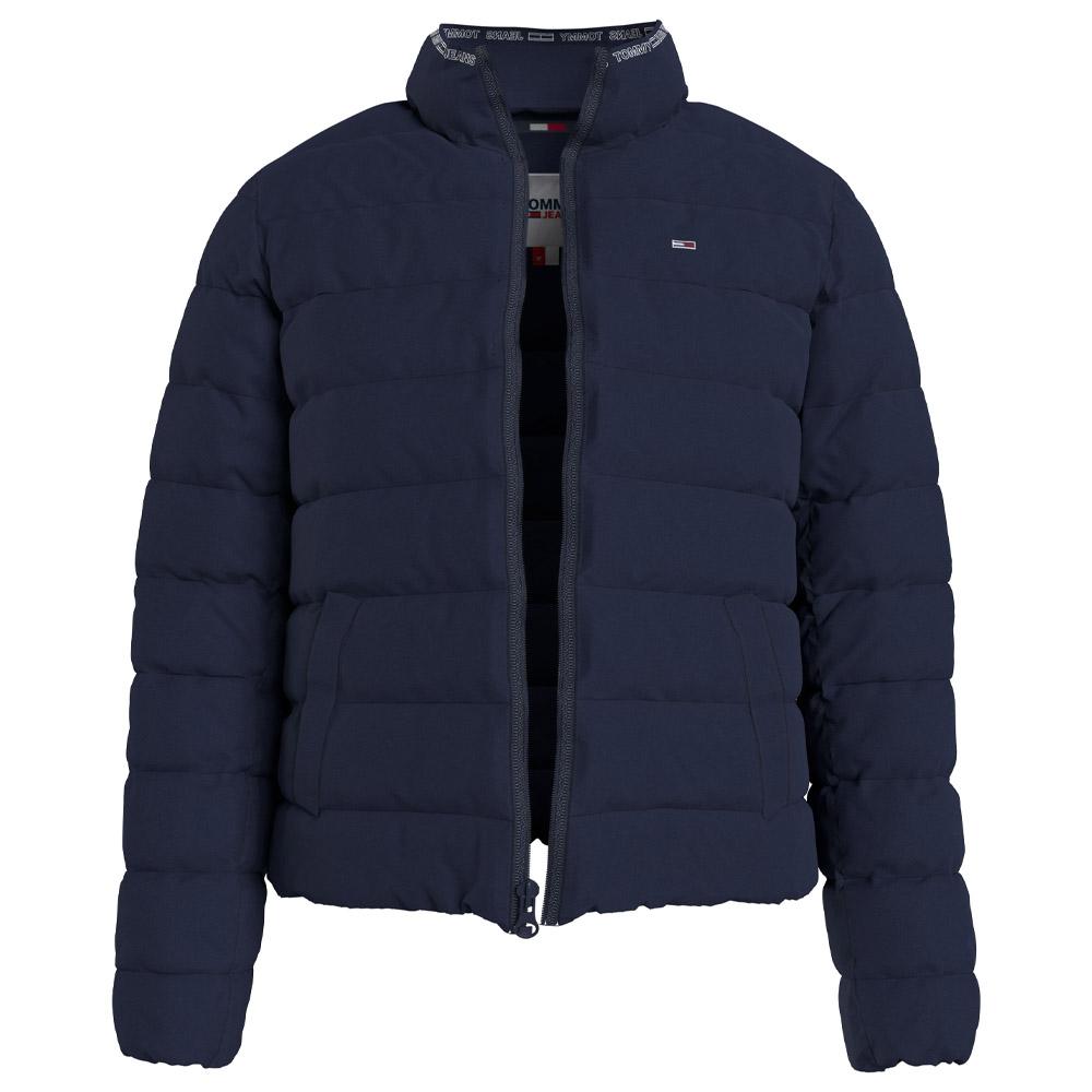 Quilted Zip Through Jacket in Navy