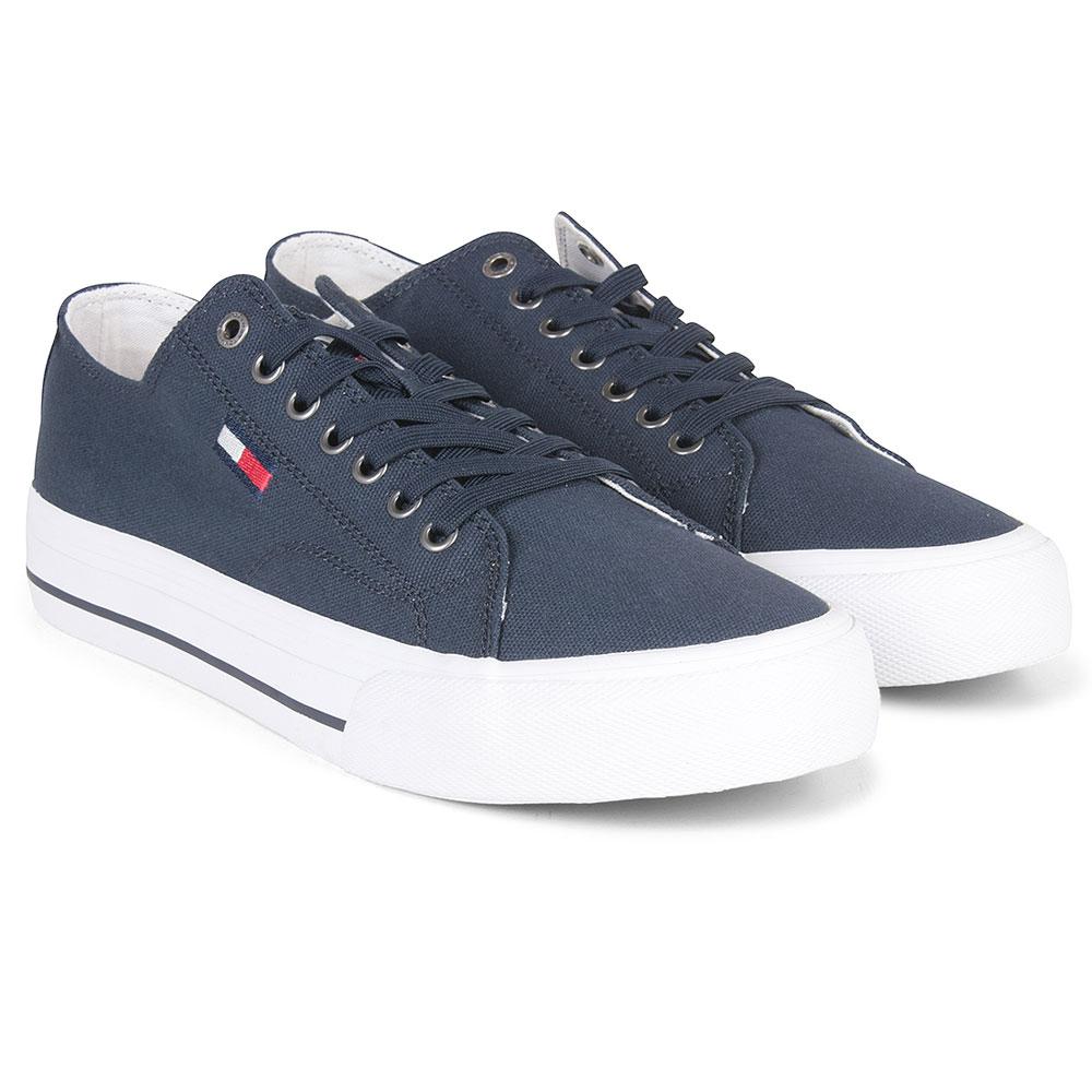 Long Lace Sneaker in Navy