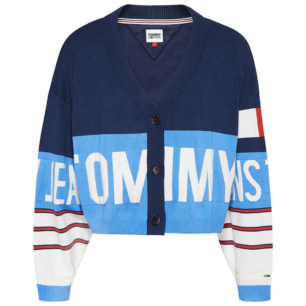 TJ Branded Cardigan in Blue