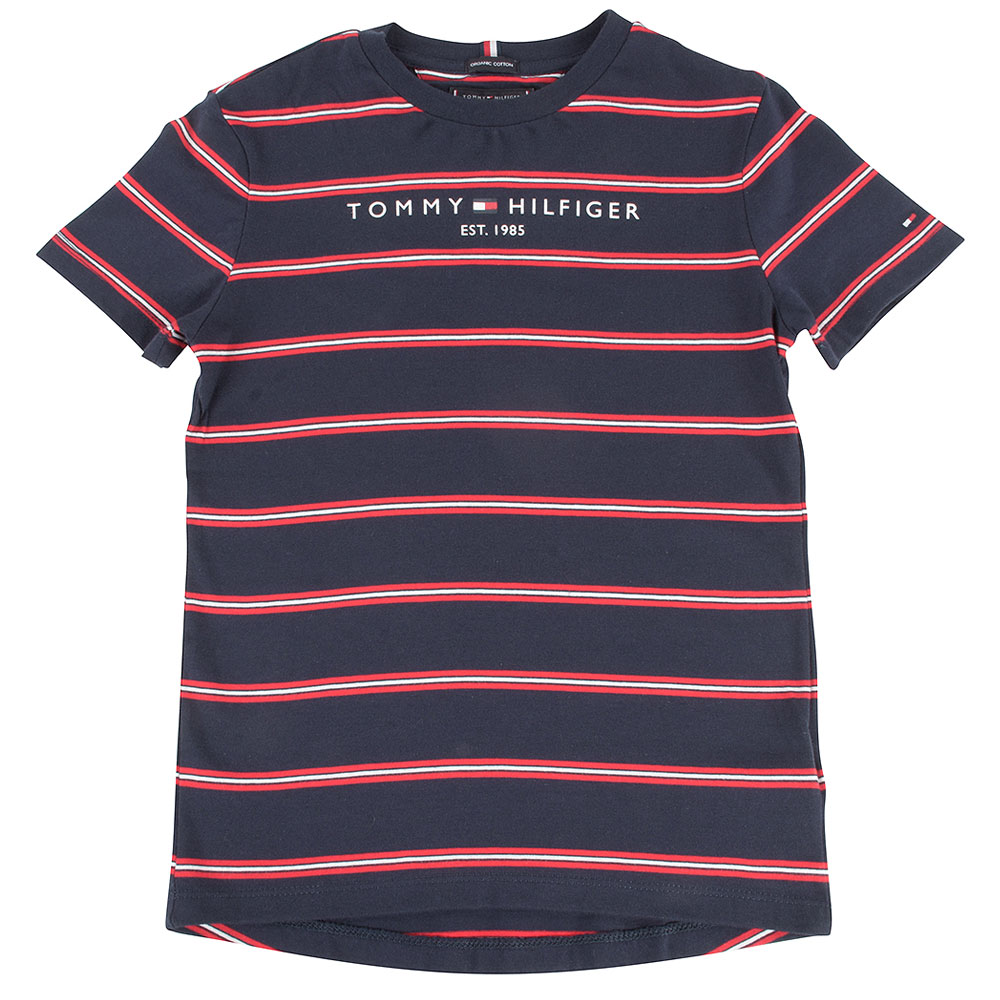 Essential Stripe Kids T-Shirt in Red
