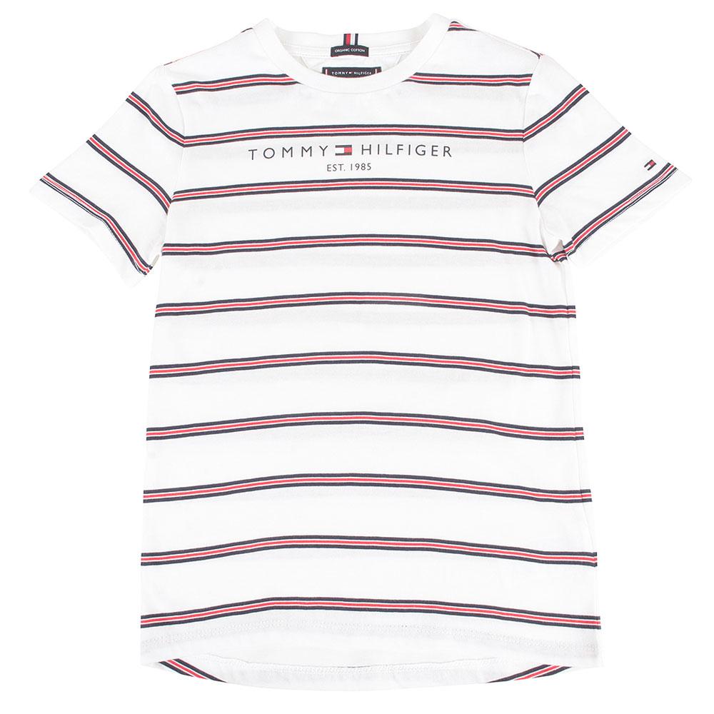 Essential Stripe Kids T-Shirt in White