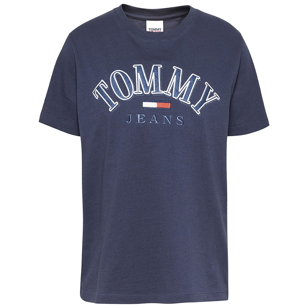 Relaxed College T-Shirt in Navy
