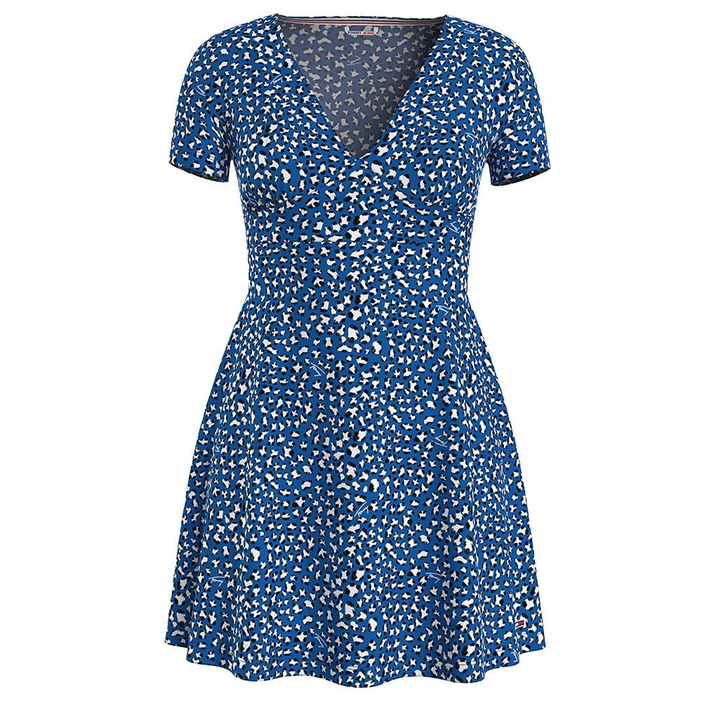 Flare Leopard Print Dress in Khaki