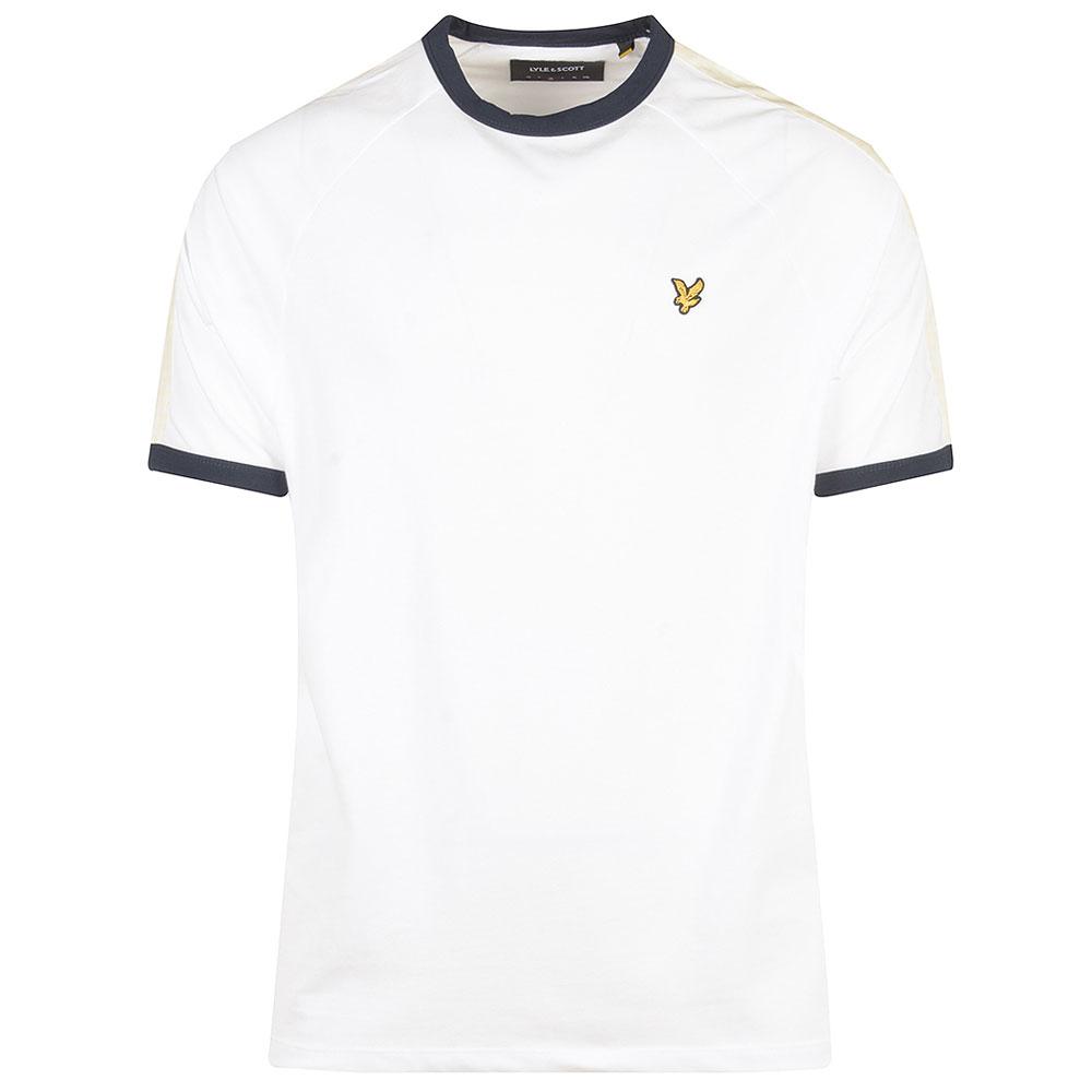 Gingham Stripe T-Shirt in White