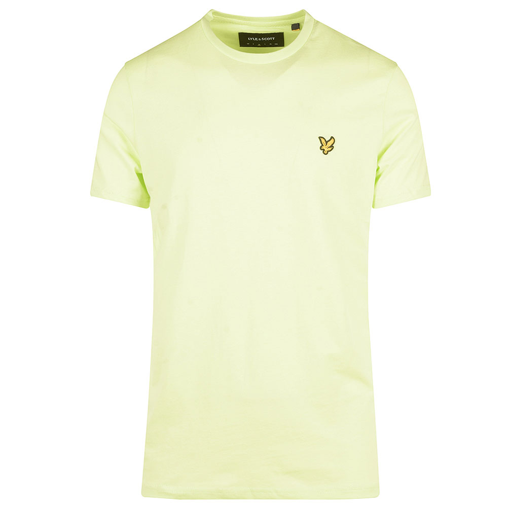 Crew Neck T-Shirt in Lime