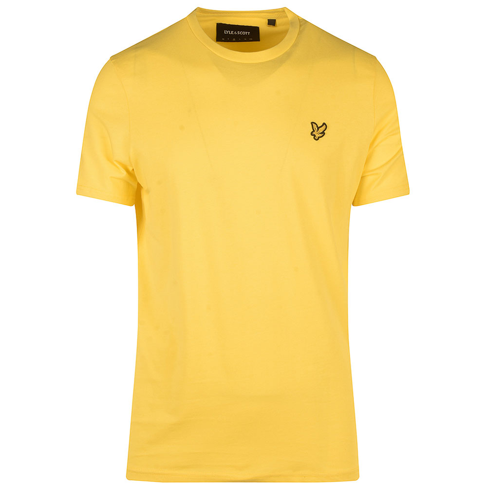 Crew Neck T-Shirt in Yellow