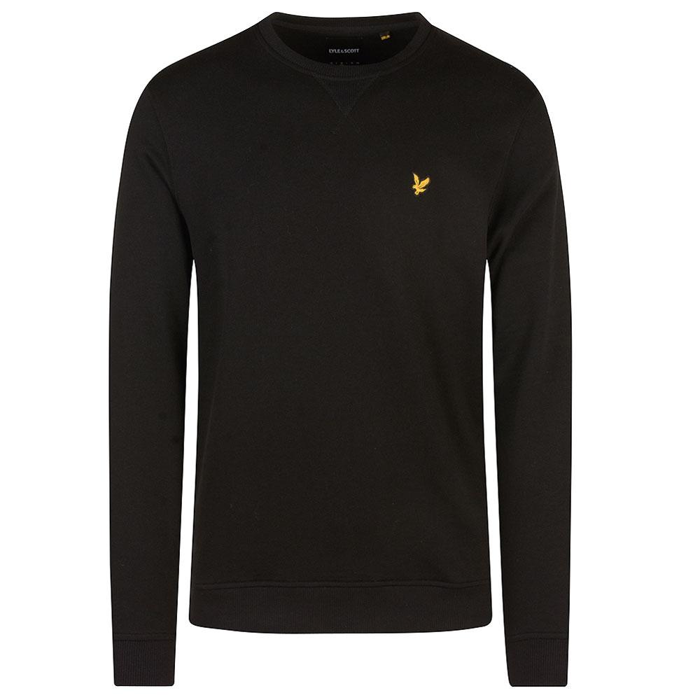 Crew Neck Sweatshirt in Black