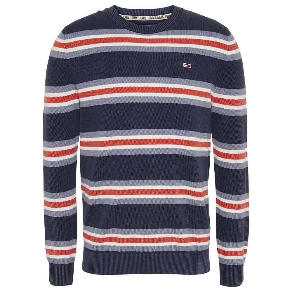 TJM Striped Sweat Shirt in Navy