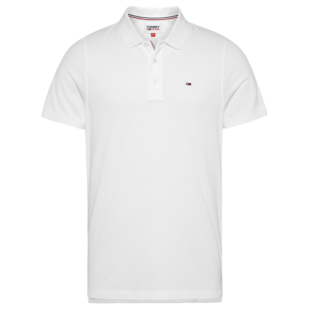 Tommy Fine Polo Shirt in White