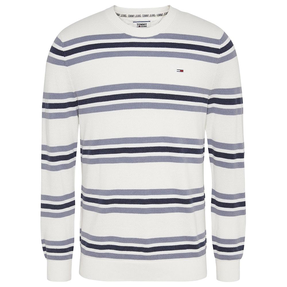 TJM Striped Sweat Shirt in Cream