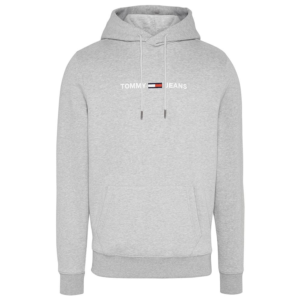 TJM Chest Logo Hoodie in Grey