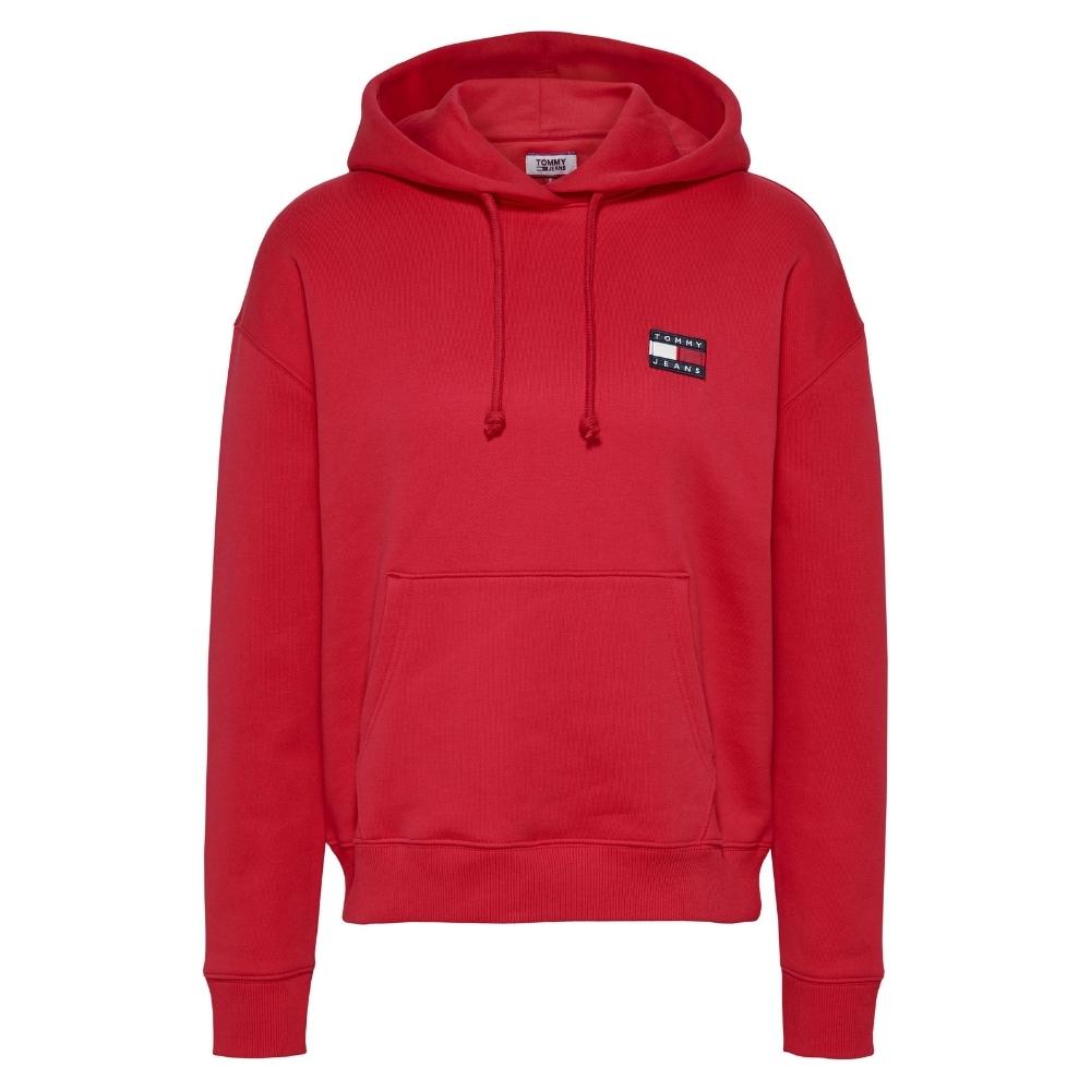 TJW Badge Hoodie in Red