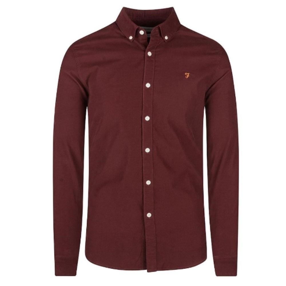 Fontella Cord Shirt in Burgundy