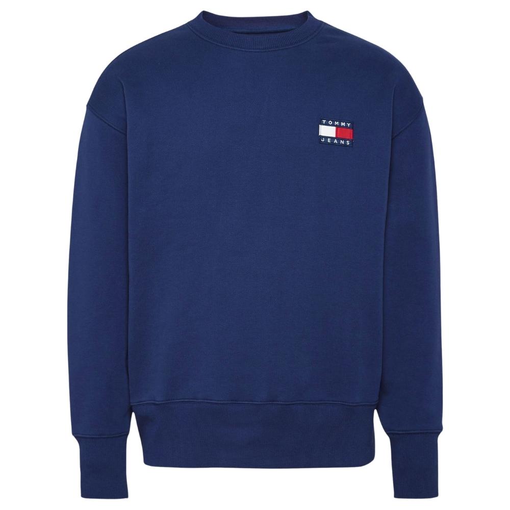 TJM Badge Crew Sweatshirt in Navy