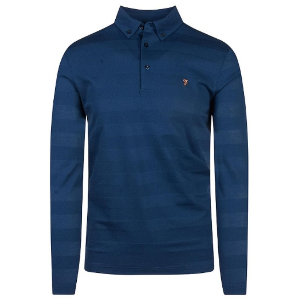 Stapleton Long Sleeve Polo Shirt in Royal